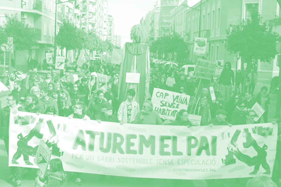 Manifestació contra el PAI de Benimaclet
