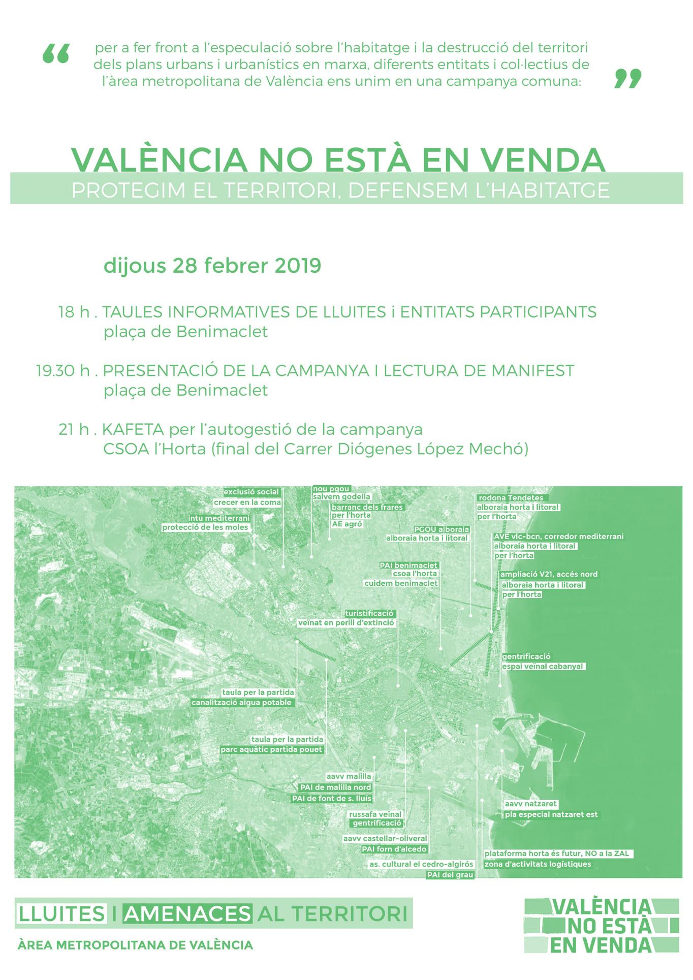 """Presentació campanya """"València no està en venda"""""""